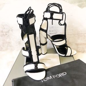 Tom Ford Paneled Leather Patchwork Sandals